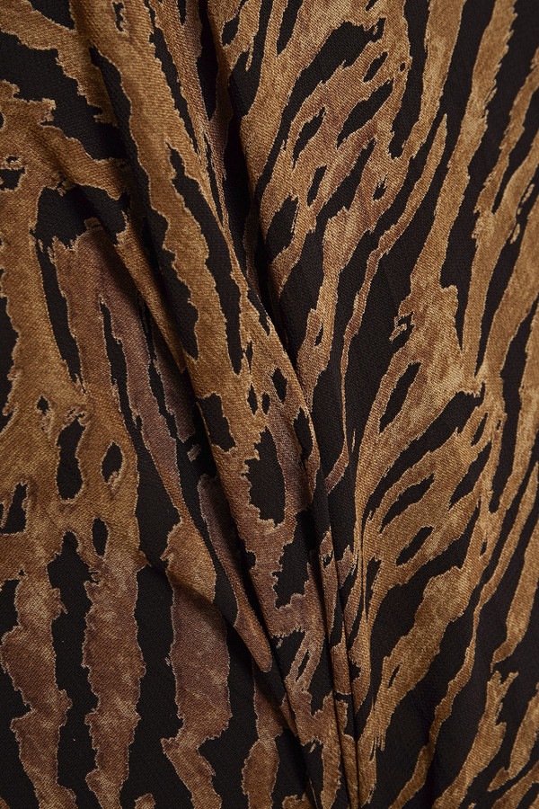 Thumbnail for your product : Ganni Tiger-print Georgette Mini Skirt