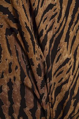 Ganni Tiger-print Georgette Mini Skirt