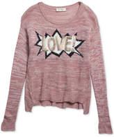 Jessica Simpson Love Graphic Sweater, Big Girls
