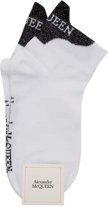 Alexander McQueen Lurex Detailed Socks