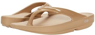 OOFOS OOlala Sandal (Black/Black) Women's Sandals