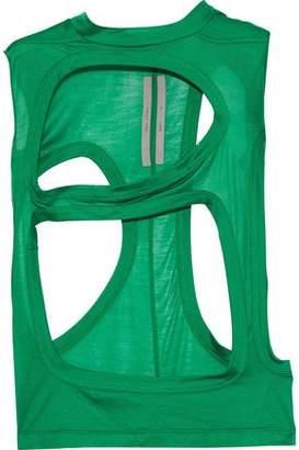 Rick Owens Cutout Silk-jersey Top