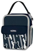 Thermos Lunch Bag with Guitar Pattern - Navy Blue