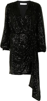 Jonathan Simkhai Sequin Embellished Wrap Dress