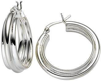 Viventy Women's Creole Earrings Silver Rhodium-Plated 771804