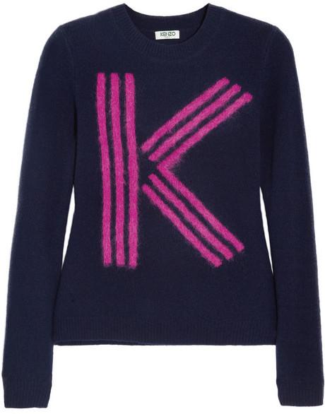 Kenzo K-intarsia wool-blend sweater