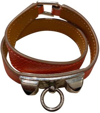 Hermã ̈S HermAs Rivale Orange Leather Bracelets