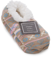 Charles Albert Taupe Fair Isle Slipper - Women