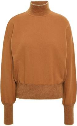 Alberta Ferretti Crystal-embellished Wool And Cashmere-blend Turtleneck Sweater