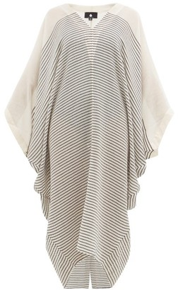SU PARIS Bahia Striped Cotton-gauze Kaftan - Cream Stripe