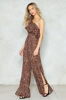 Nasty Gal One on One Floral Jumpsuit