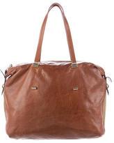 Valentino Textured Leather Satchel