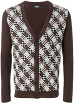 Fendi ribbed patterned cardigan