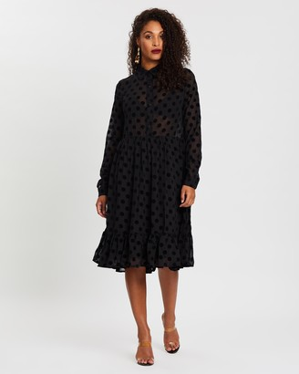 NA-KD Polka Dot Mesh Dress