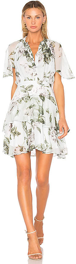 Lover Watercolor Flutter Mini Dress