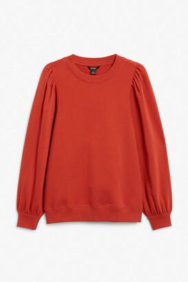 Monki Oversized puff sleeve sweater