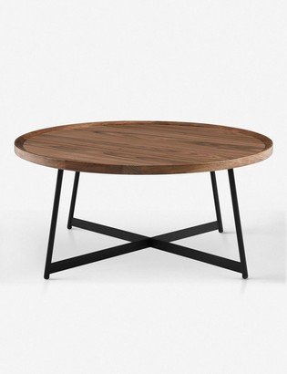 Lulu & Georgia Gweneth Round Coffee Table, Walnut