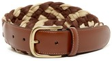 Tommy Bahama Cotton and Leather Braided Belt