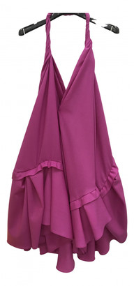 Jacquemus La Riviera Pink Wool Dresses