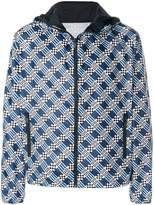 Fendi damier-print hooded jacket