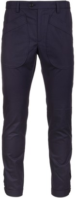 Lanvin Iink Blue Oversized Pockets Man Chinos