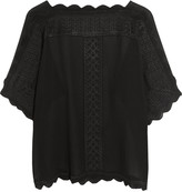 Etoile Isabel Marant Axel embroidered georgette top