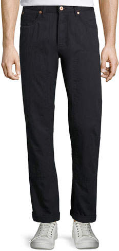 Billy Reid Selvedge Twill 5-Pocket Pants, Navy
