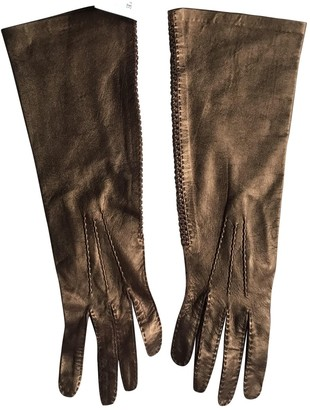 Loewe Metallic Leather Gloves