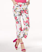 INC International Concepts I.n.c. Cropped Floral-Print Pants, Created for Macy's