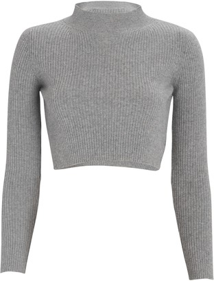 Andamane Enny Cropped Wool-Cashmere Sweater