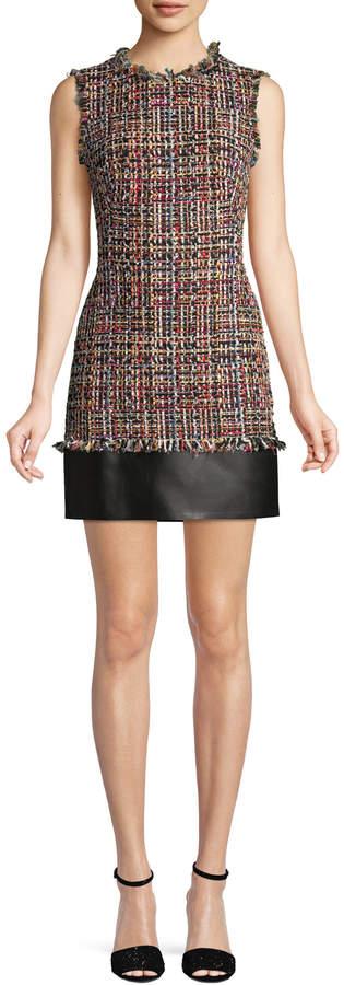 Alexander McQueen Women's Tweed Mini Dress