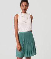 LOFT Petite Fluid Pleated Skirt