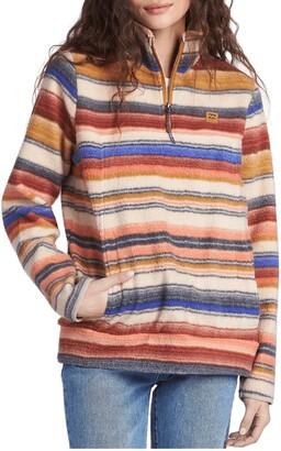 Billabong Boundary Half Zip Mock Neck Fleece Pullover