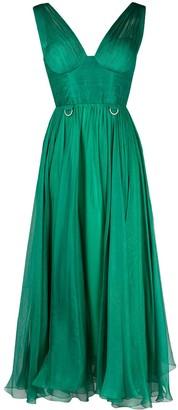 Maria Lucia Hohan Sorena lace-up midi dress