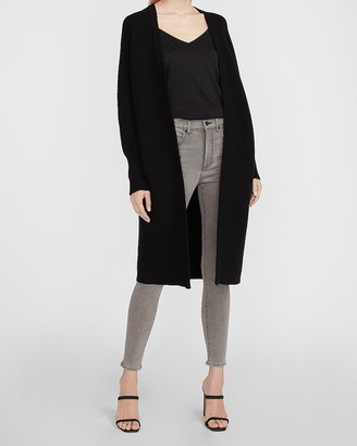 Express Fine Ribbed Long Cardigan