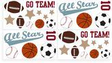 Sweet Jojo Designs All Star Sports Wall Decals