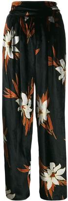 A.N.G.E.L.O. Vintage Cult 1970's Plush Effect Floral Trousers