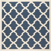 Safavieh Courtyard Collection CY6903-268 Navy and Beige Indoor/Outdoor Square Area Rug, 6-Feet 7-Inch Square