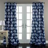 Lush Decor Lush Décor Elephant Parade 84-Inch Room Darkening Window Curtain Panel Pair in Navy
