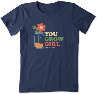 Life is Good Women's You Grow Girl Crusher Tee