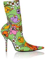 Balenciaga Women's Floral Neoprene Ankle Booties