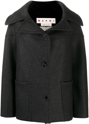 Marni Spread-Neck Wool Coat