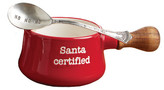 Mud Pie Red Santa Certified Holiday Dipping & Spoon 2-Piece Set