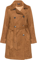 Manon Baptiste Plus Size Caro faux suede trench coat