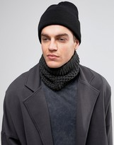 Asos Knitted Infinity scarf In Gray