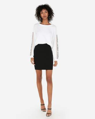Express High Waisted Straight Mid-Thigh Skirt