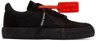 Off-White Black Suede Low Vulcanized Sneakers