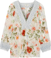 Joie Amatite printed silk blouse
