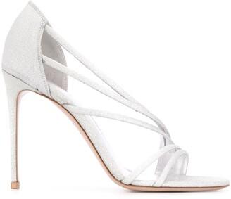 Le Silla Scarlet 105mm glitter sandals