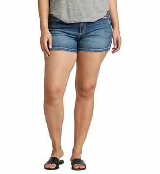 Silver Jeans Co. Women's Plus Size Elyse Curvy Fit Rise Short